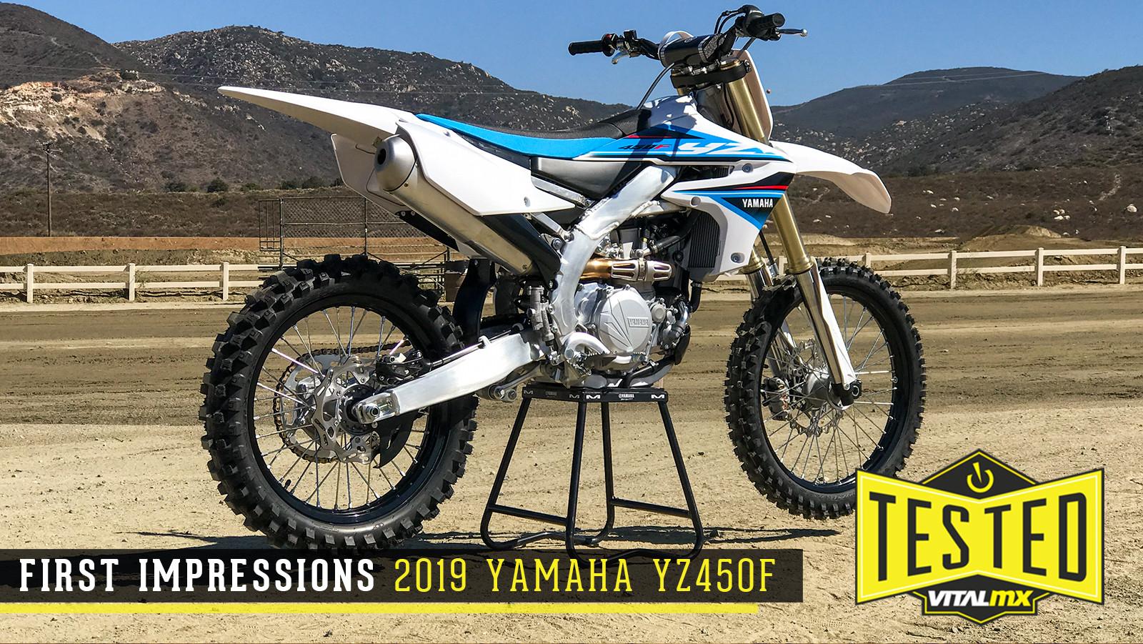 First Impressions: 2019 Yamaha YZ450F