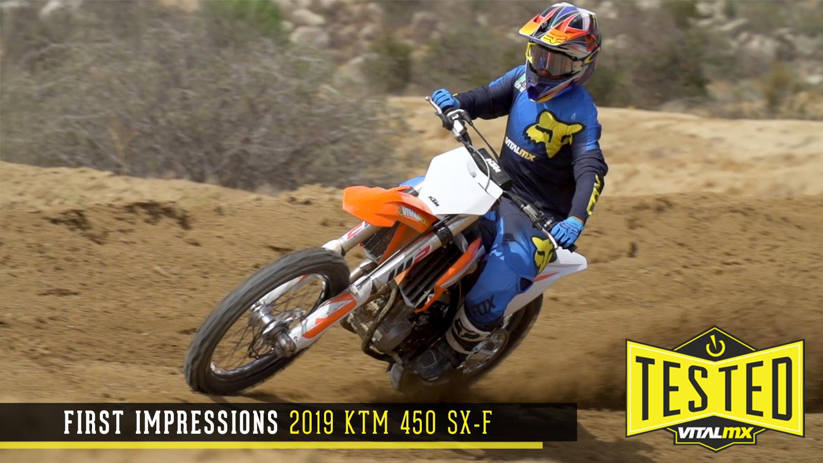 First Impressions: 2019 KTM 450 SX-F