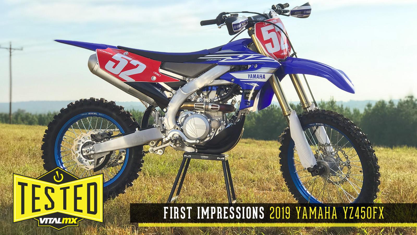 First Impressions: 2019 Yamaha YZ450FX