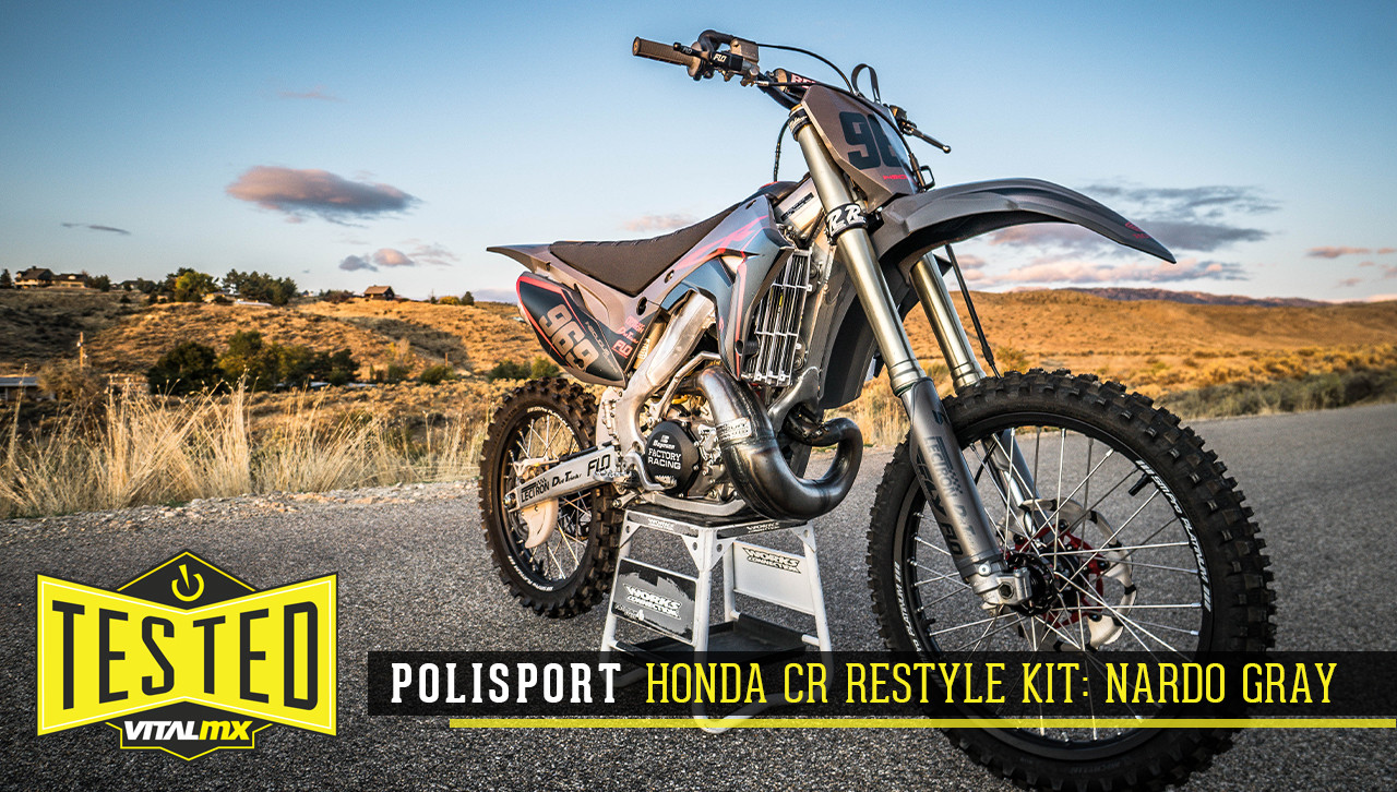 Tested: Polisport Honda CR Restyle Kit: Nardo Gray
