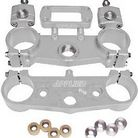Applied Racing R/S Triple Clamp Kit With Oversized Bar Mounts Silver