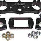 Applied Racing R/S Triple Clamp Kit With Oversized Bar Mounts Black