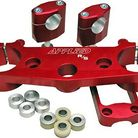 Applied Racing R/S Triple Clamp Kit With Oversized Bar Mounts Red
