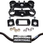 Applied Racing Factory R/S Triple Clamp Set With Renthal Fat Bar Handlebar Combo