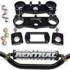 Applied Racing Factory R/S Triple Clamp Set With Renthal Twinwall Handlebar Combo