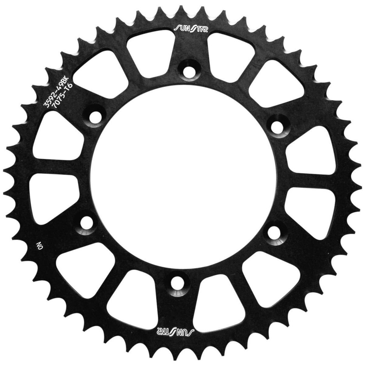 Sunstar 520 Works Triplestar Aluminum Rear Sprocket - Reviews, Comparisons, Specs - Motocross ...