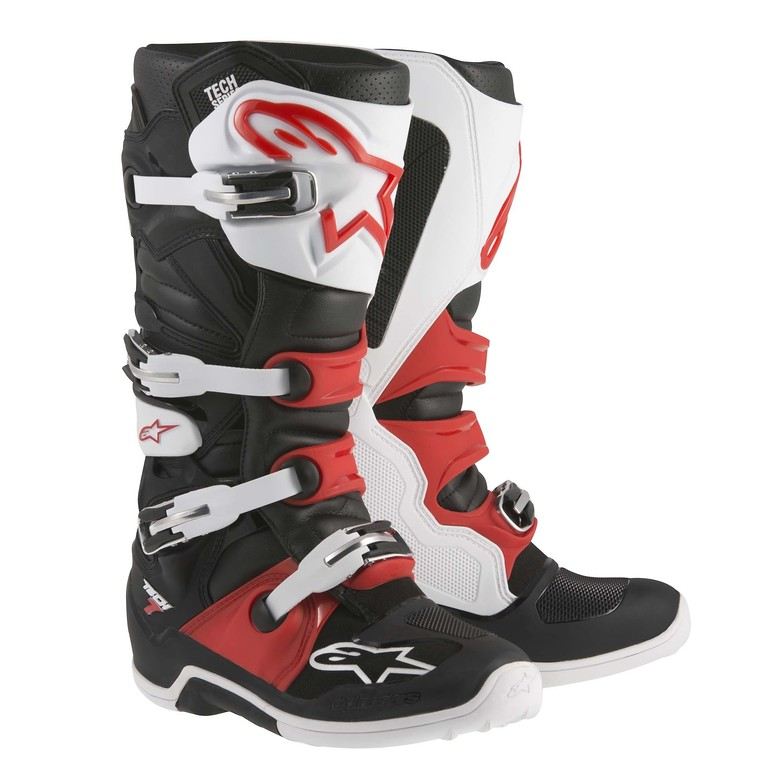 Alpinestars Tech 7 Red, Black, and White Boots
