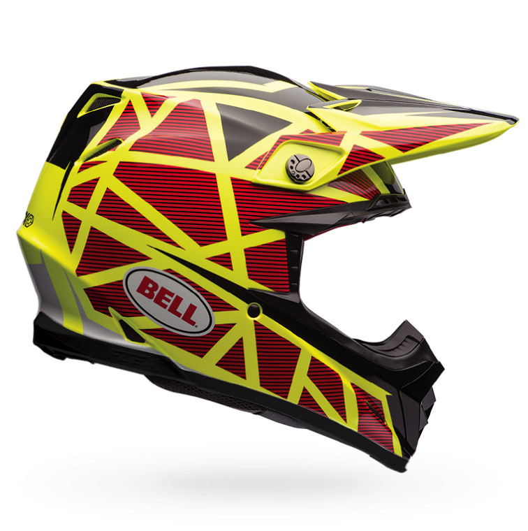 Bell Moto-9 Flex Strapped Yellow and Red