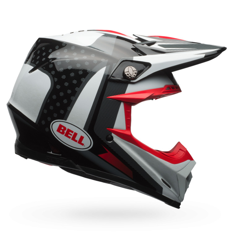 Bell Moto-9 Flex Vice Black and White