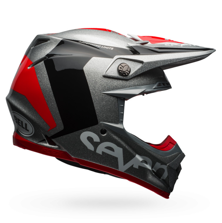 Bell Moto-9 Flex Rogue Silver and Black