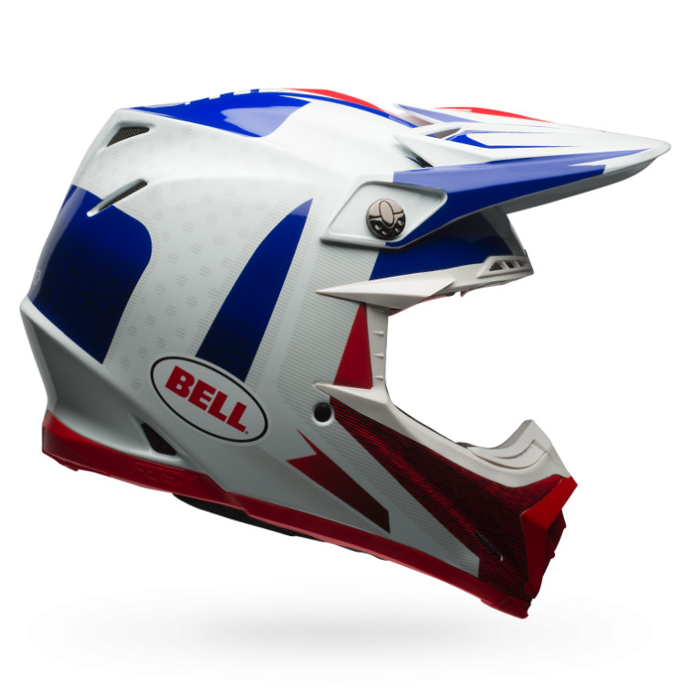 Bell Moto-9 Flex Vice Blue and Red
