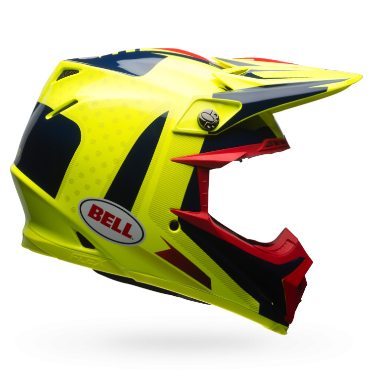 Bell Moto-9 Flex Vice Red and Yellow