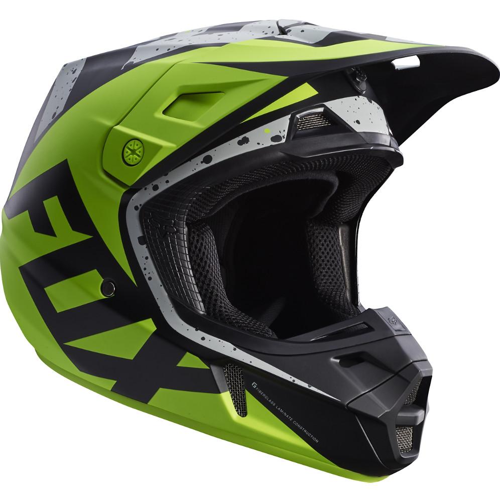 Fox Racing V2 Helmet Fox Racing V2 Nirv Gray and Yellow