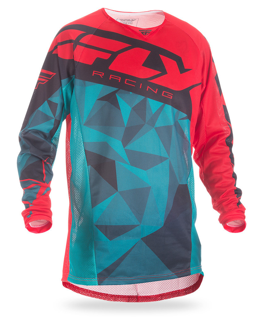 Fly Racing Kinetic Mesh Jerseys Crux Teal/Red/Black