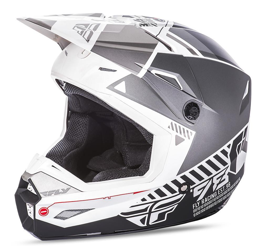 Fly Racing Elite Onset Helmet Fly Racing Elite Onset Gray and White