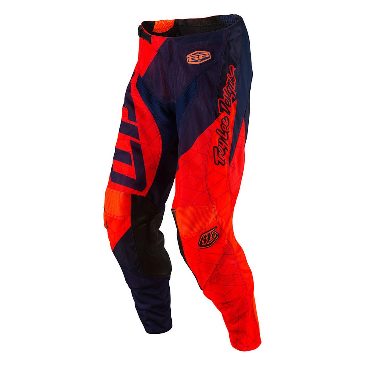 Troy Lee Designs GP Air Quest Pants Troy Lee Designs GP Air Quest Orange and Blue