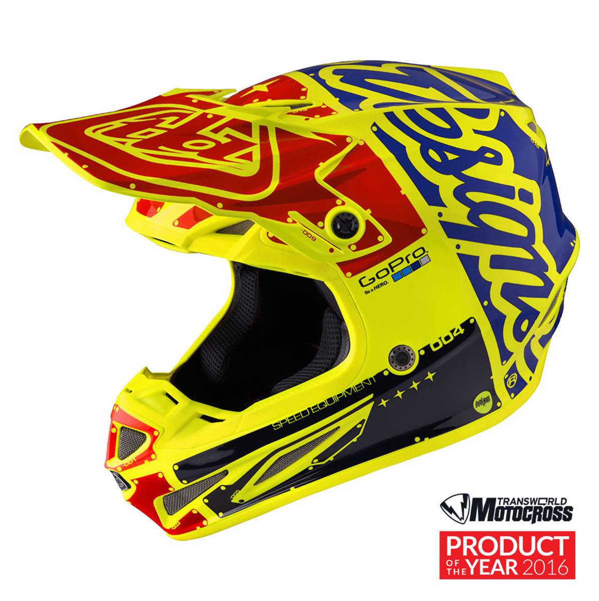 Troy Lee Designs SE4 Carbon Factory Yellow