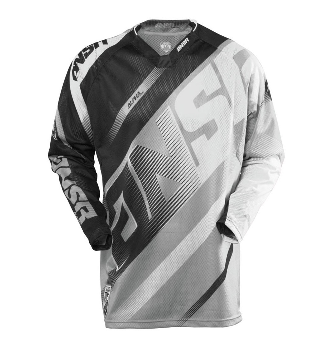 Answer Racing Alpha Air Jersey & Pant  Answer Racing Alpha Air  Gray, White, and Black