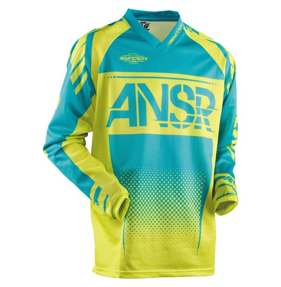 Answer Racing Syncron Air Jersey Answer Racing Syncron Air Yellow and Blue
