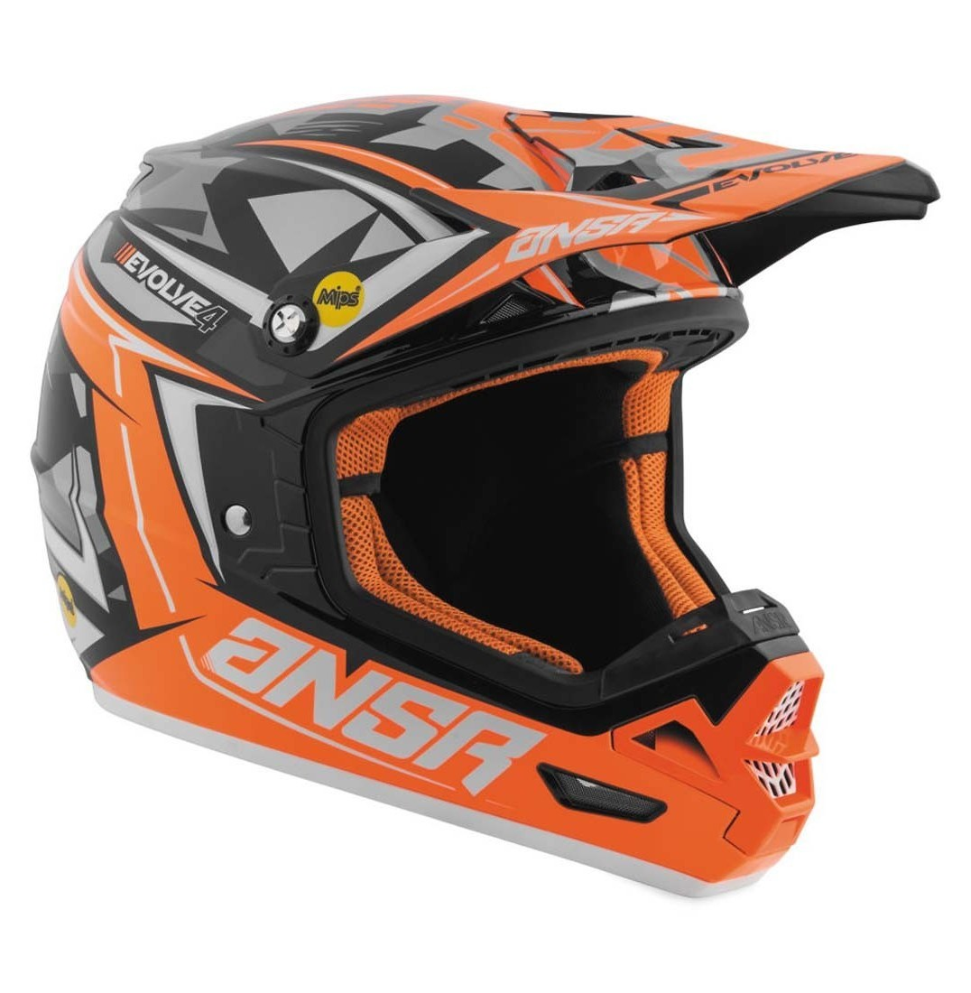 Answer Racing Evolve 4 Helmet Answer Racing Evolve 4 Black, Gray, and Orange