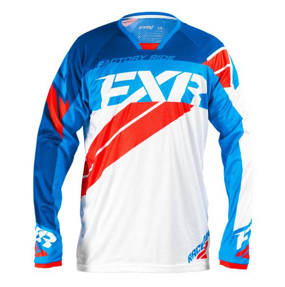 FXR Revo Jersey & Pant  FXR Revo White, Navy, Blue, and Red