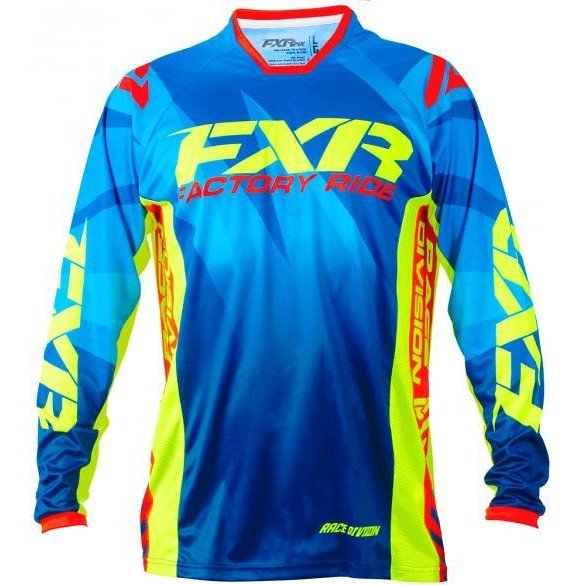 FXR Mission Jersey FXR Mission Blue, Yellow, and Red