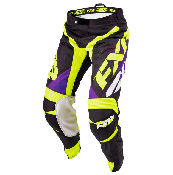 FXR Mission Pants FXR Mission Purple and Yellow