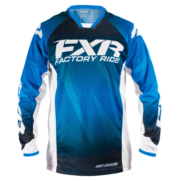 FXR Mission Air Jersey & Pant  FXR Mission Air Blue and White