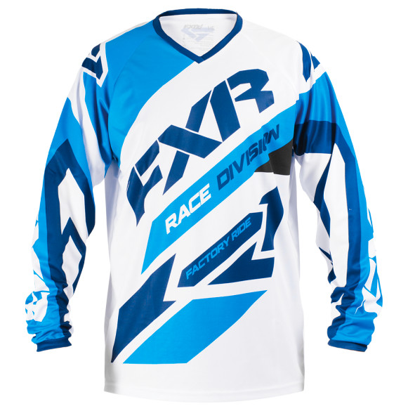FXR Clutch Jersey & Pant  FXR Clutch Blue and White