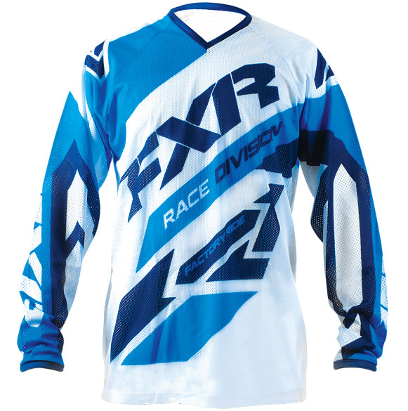 FXR Clutch Air Jersey & Pant  FXR Clutch Air Blue and White