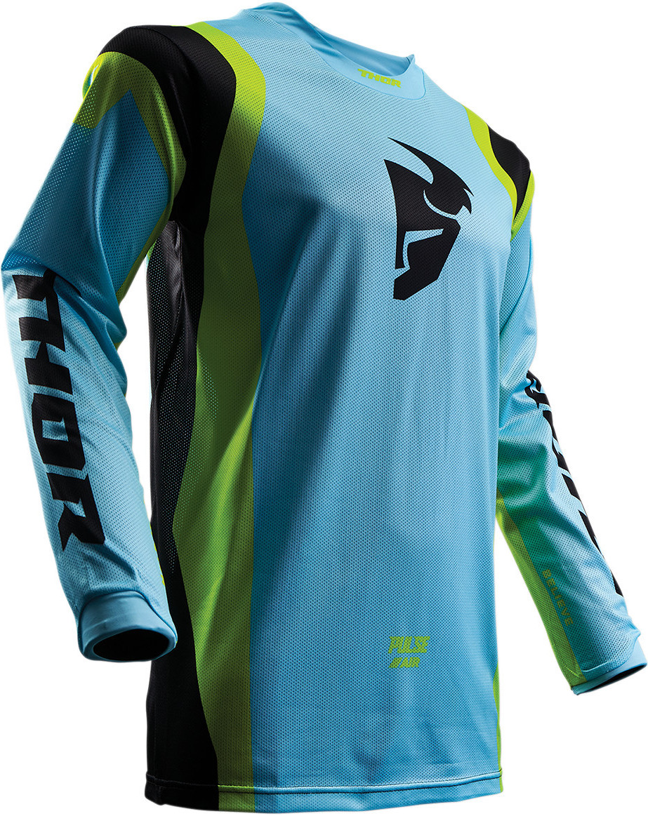 Thor Pulse Air Jersey Thor Pulse Air Blue, Yellow, and Black