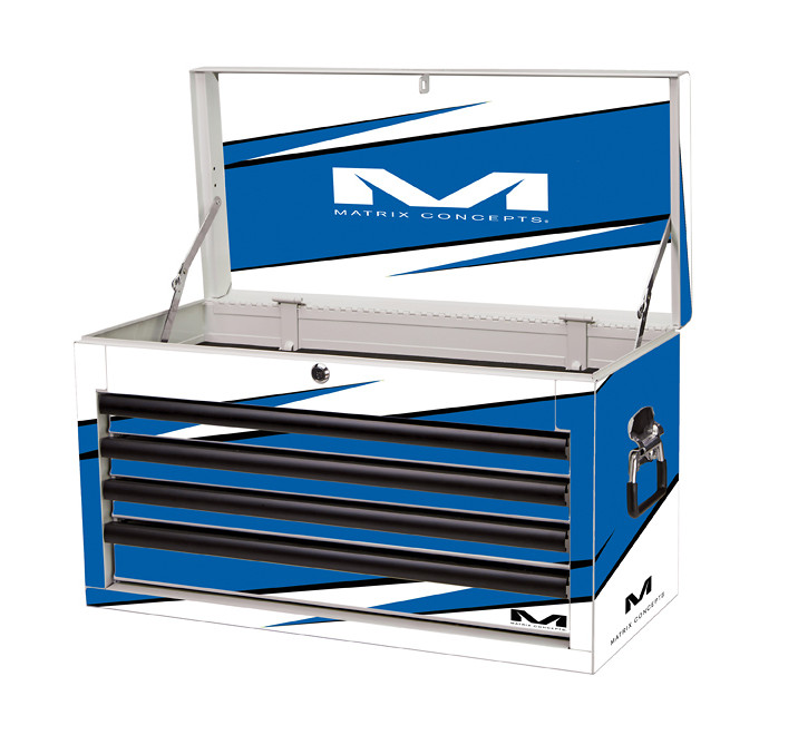 Matrix Concepts M80 Race Series Tool Box - 4 Drawer  M80 4 Drawer Bolt Blue 403
