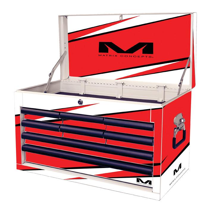 M80 8 Drawer Bolt Red 802