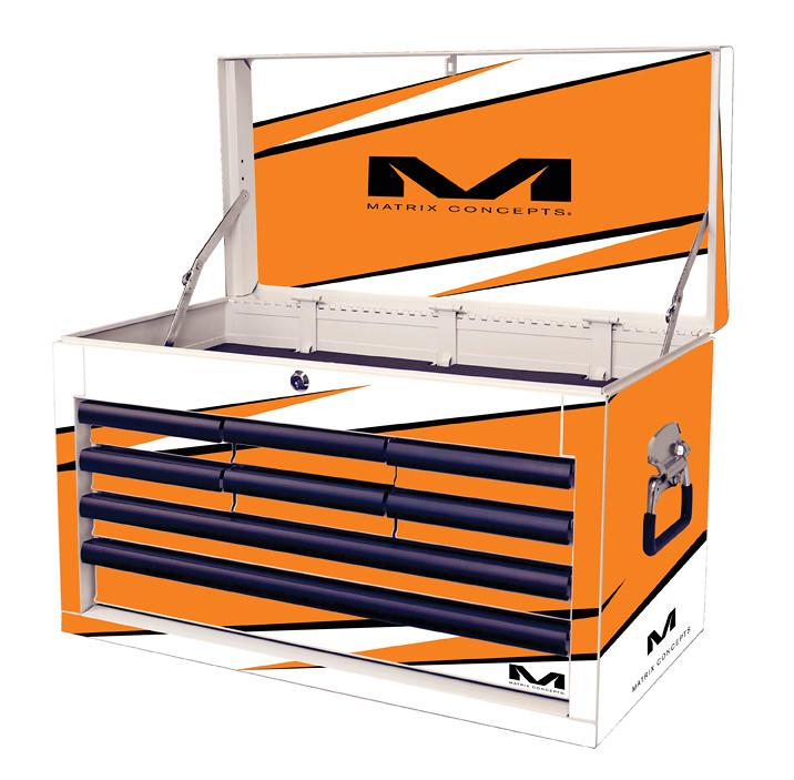 M80 8 Drawer Bolt Orange 806