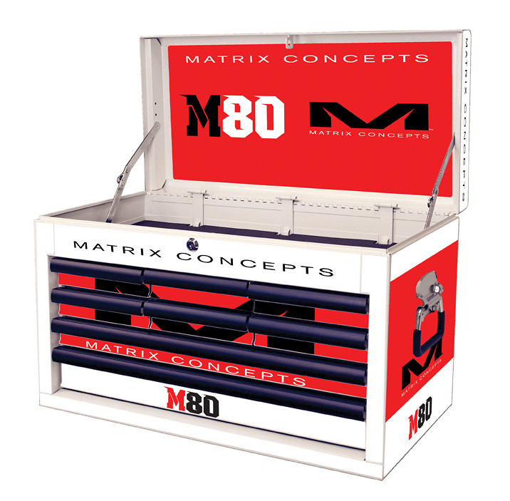 M80 8 Drawer Clash Red 812