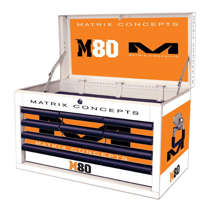 M80 8 Drawer Clash Orange 816
