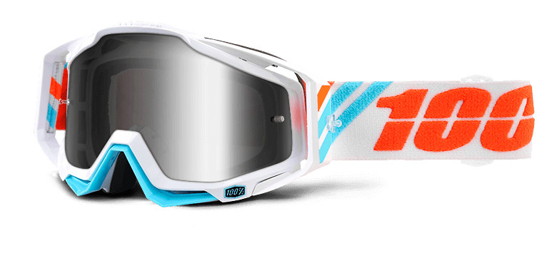 100% Racecraft White and Blue