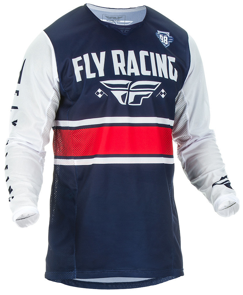 Kinetic Mesh Jersey, Blue/White/Red