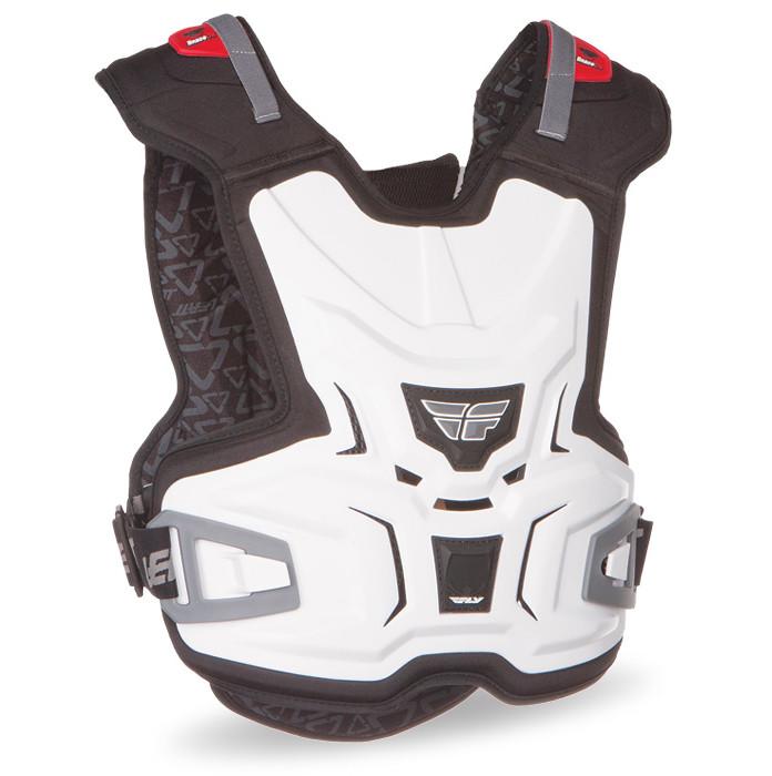 Fly Racing Junior Lite Body Vest Chest Protector Fly-Junior-Vest-White