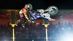 Historic Bike Flip in FMX competition - Red Bull X-Fighters
