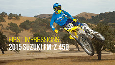 First Impressions: Riding the 2015 Suzuki RM-Z 450