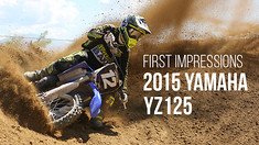 First Impressions: Riding the 2015 Yamaha YZ125