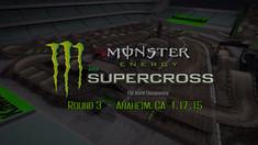 2015 Anaheim 2 Supercross Track Map