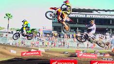 Daytona Amateur SX 450 Pro Sport Crash: Daniel Baker and Chase Bell