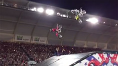 Ouch - Travis Pastrana Over-Rotates a Double Backflip