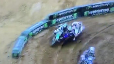 CRASH: Cooper Webb Punts Himself and Chris Alldredge Off the Track in Glendale