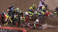 CRASH: Crazy First Turn Pile Up at Toronto - Malcolm Stewart, Jeremy Martin, & More
