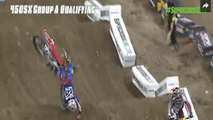 CRASH: Cole Seely Goes Over the Bars - Detroit Supercross