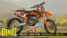 Tested: Project 2016 KTM PowerParts 350 SX-F