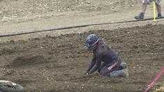 CRASH: Gautier Paulin - 2016 MXGP of France Qualifying Race